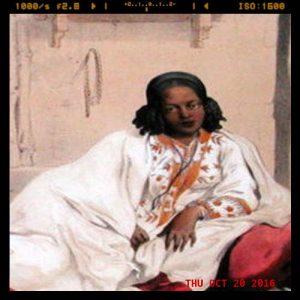 Oil panting of Ethiopian woman