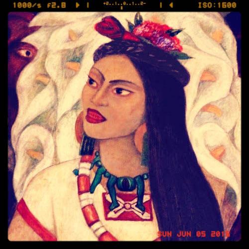 Diego Rivera's mural of Malinche