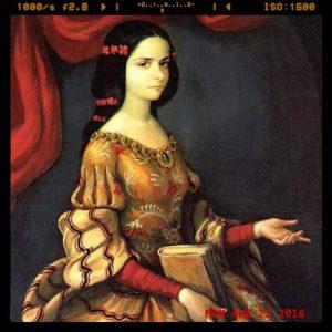 Oil portrait of Sor Juana Ines de la Cruz